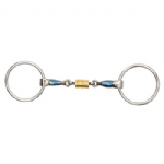 Blue Alloy Loose Ring With Roller Link MRS140